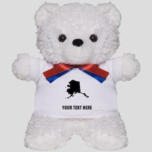 Custom Alaska Silhouette Teddy Bear