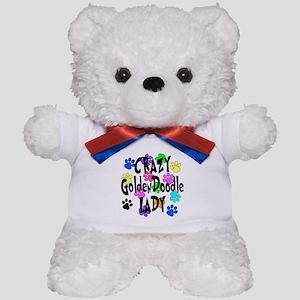 Crazy Goldenddoodle Lady Teddy Bear