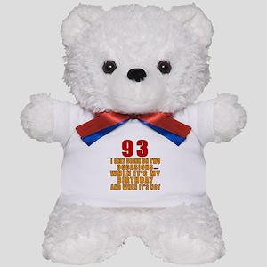 93 Birthday Designs Teddy Bear