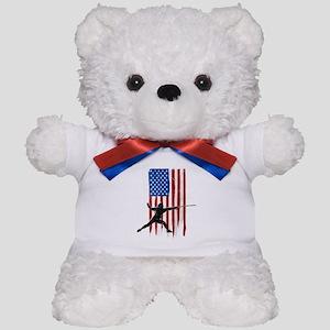 USA Flag Team Fencing Teddy Bear