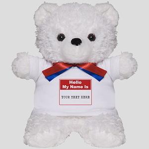 Custom Name Tag Teddy Bear