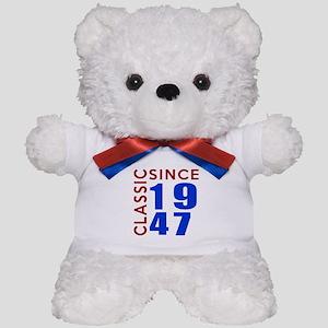Classic Since 1947 Birthday Designs Teddy Bear