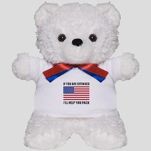 Offended USA Flag Help Pack Teddy Bear