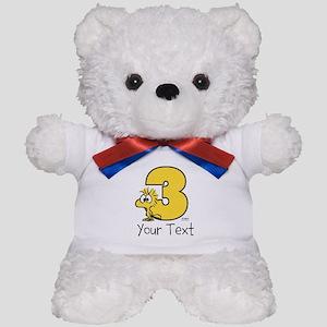 Woodstock 3-Year-Old Birthday Teddy Bear