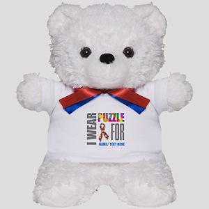 Autism Awareness Ribbon Customized Teddy Bear