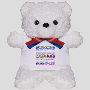 Friends Quotations Teddy Bear