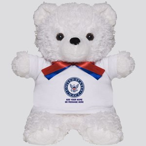 US Navy Symbol Personalized Teddy Bear