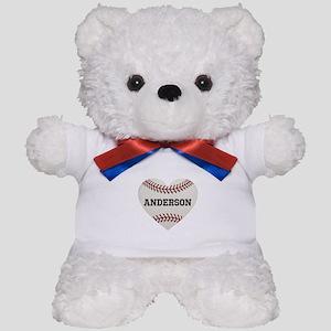 Baseball Love Personalized Teddy Bear