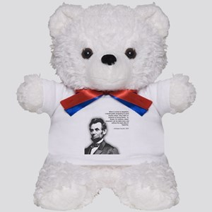Abraham Lincoln Quote Teddy Bear