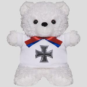 Black & Chrome Iron Cross Teddy Bear