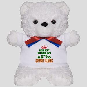 Keep Calm And Go To Cayman Country Teddy Bear