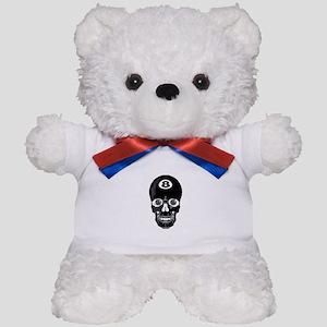 Eight Ball (8 Ball) Skull Teddy Bear
