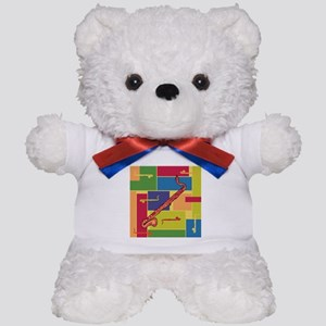 Bass Clarinet Colorblocks Teddy Bear
