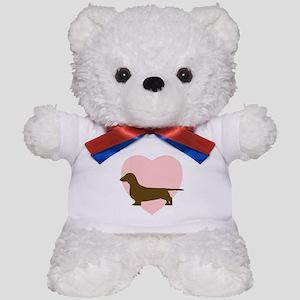 Dachshund Heart Teddy Bear