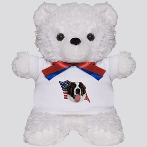 Saint Bernard Flag Teddy Bear
