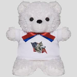 Malamute Flag Teddy Bear