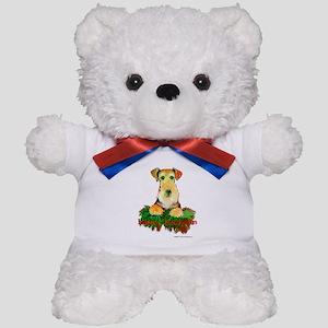 Airedale Holiday Teddy Bear