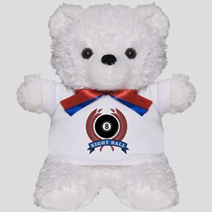 Eight Ball Red Emblem Teddy Bear