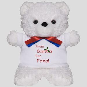 From Santa For Fred Teddy Bear