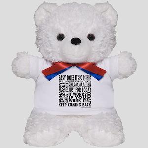 Recovery Slogans Teddy Bear