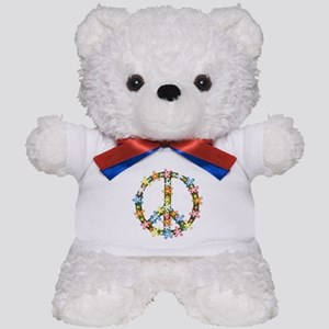 Peace Flowers Teddy Bear