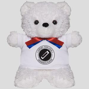 Support Harmonica Player Teddy Bear