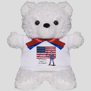 Press 1 for English Teddy Bear