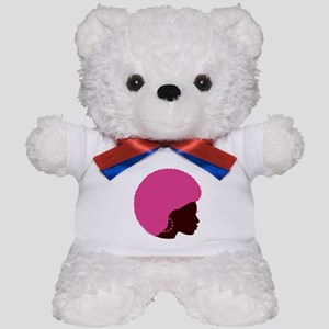 Pink Afro Teddy Bear