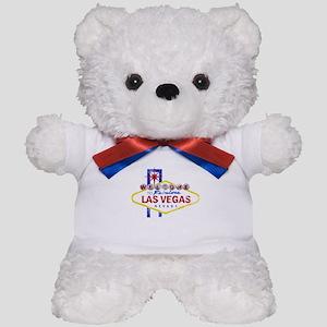Las Vegas Sign Distressed Teddy Bear