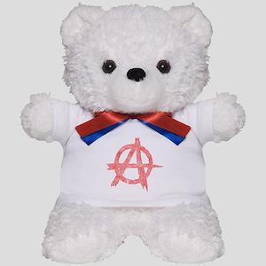 Vintage Anarachy Symbol Teddy Bear