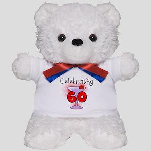 Cocktail Celebrating 60 Teddy Bear
