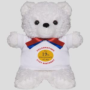 Celebrating 40th Birthday Teddy Bear