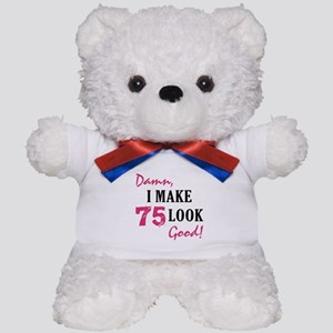 Hot 75th Birthday Teddy Bear