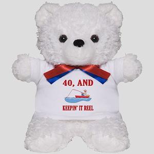 40 And Keepin' It Reel Teddy Bear