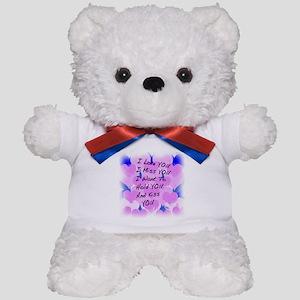 I LOVE U I MISS U Teddy Bear