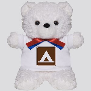 Camping Tent Sign Teddy Bear