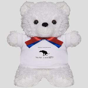 I said sit! Teddy Bear