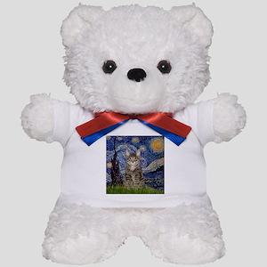 Starry Night & Tiger Cat Teddy Bear