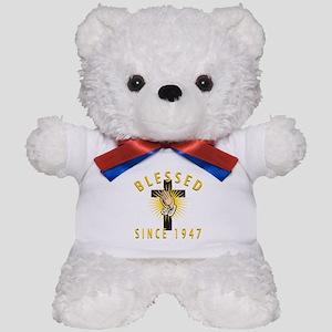 Blessed Since 1947 Teddy Bear