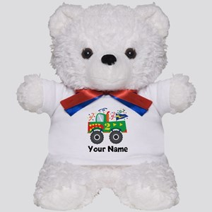 Personalized 2nd Birthday Monster Truck Teddy Bear