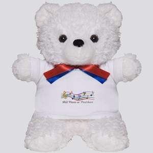 Personalized Rainbow Musical Teddy Bear