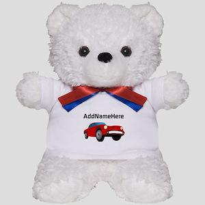 Sports Car, Custom Name Teddy Bear