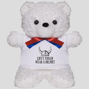 Wear A Helmet Teddy Bear