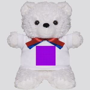 Purple and Pink Checkered Gingham Pattern Teddy Be