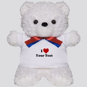 Customized I Love Heart Teddy Bear