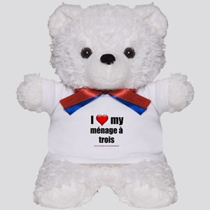 """Love Menage a Trois"" Teddy Bear"