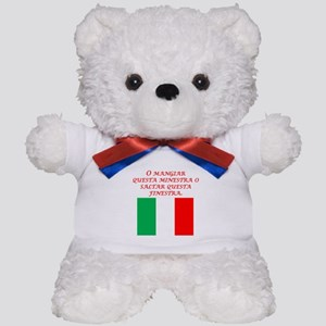 Italian Proverb Eat This Soup Teddy Bear