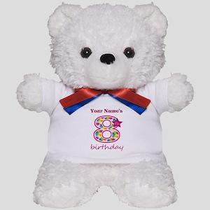 8th Birthday Splat - Personalized Teddy Bear