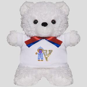 Baby Initials - V Teddy Bear