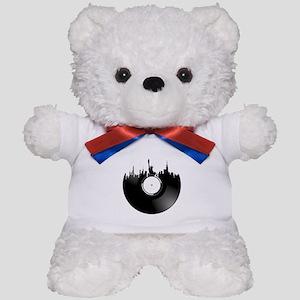 New York City Vinyl Record Teddy Bear